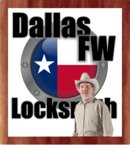 Dallas FW Locksmith logo with locksmith